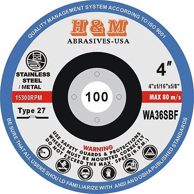 40 4 X 116 X 58 Cut-off Wheels Stainless Steel Metal Cutting Disc Type 27