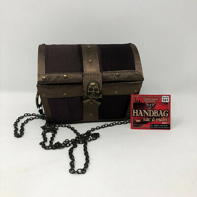 Treasure Chest Halloween Costume (Pirate Treasure Chest  Purse Girls Halloween Costume)