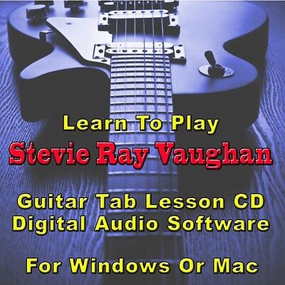 Stevie Ray Vaughan Guitar Tabs Lesson CD 64 Songs 35 Backing Tracks-best on