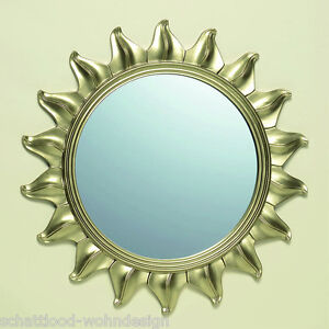 Espejo de pared dorado sol sun pasillo decoraci n ba o ebay for Espejo dorado bano