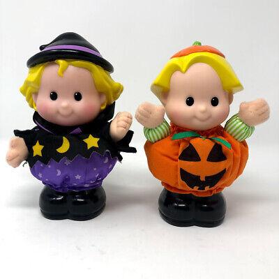"Fisher Price Little People 8"" Halloween Eddie Pumpkin Sarah Lynn Figure VIDEO"