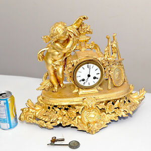 Rococo Figural French antique clock