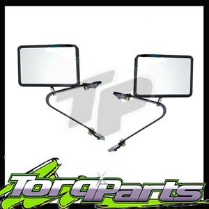 NEW TOYOTA LANDCRUISER 75 SERIES SIDE MIRRORS GLASS REAR VISION TRUCK PAIR