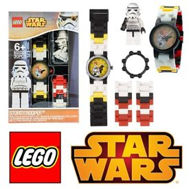 10PCS AVAILABLE - OFFICIAL LEGO STARWARS STORMTROOPER MINIFIGURE KIDS TOY BUILDABLE LINK WATCH