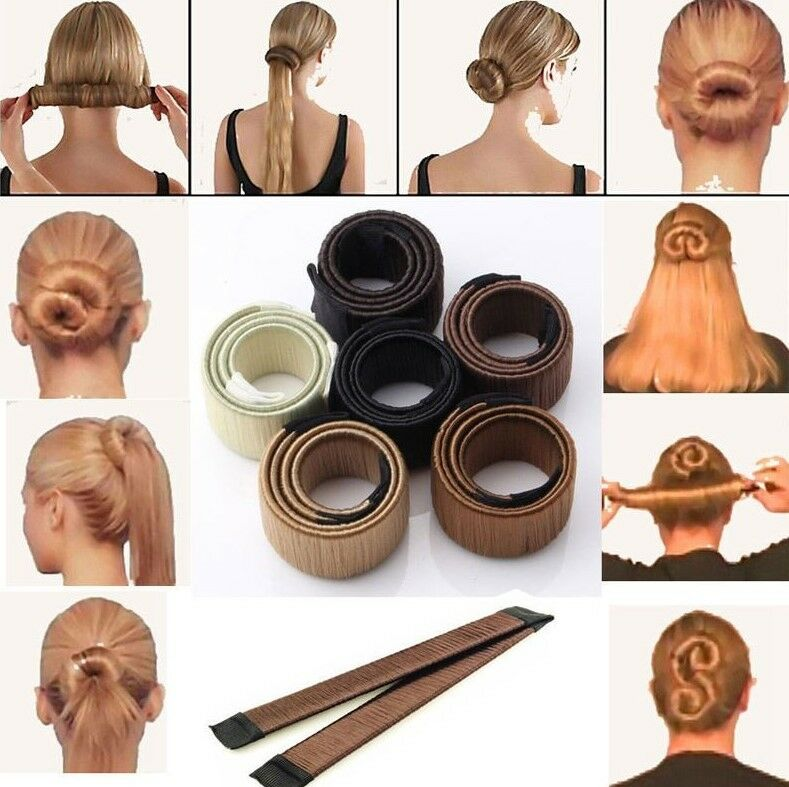 Fashion Haare Dutt Styling Damen Fashion Haarstyling Donut Hair