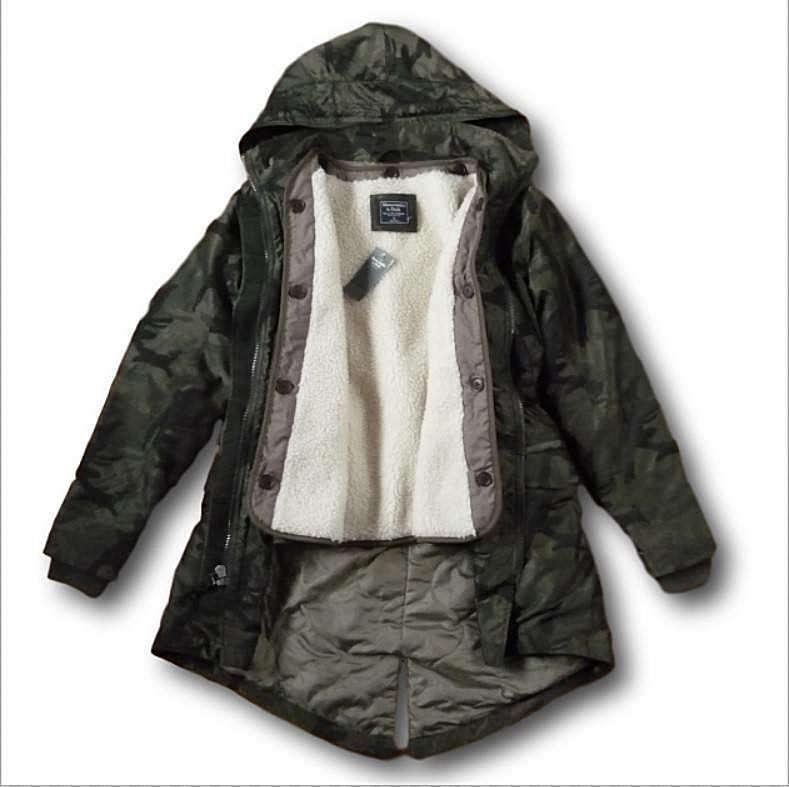 06c4f5fe7bd15 Женское пальто NWT Abercrombie&Fitch Hollister Sherpa Fur 3-In-1 Olive Camo  Parka Jacket Coat