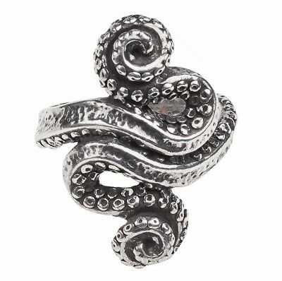 Kraken Fine Pewter Ring Octopus Sea Monster Squid Tentacles Alchemy Gothic R221