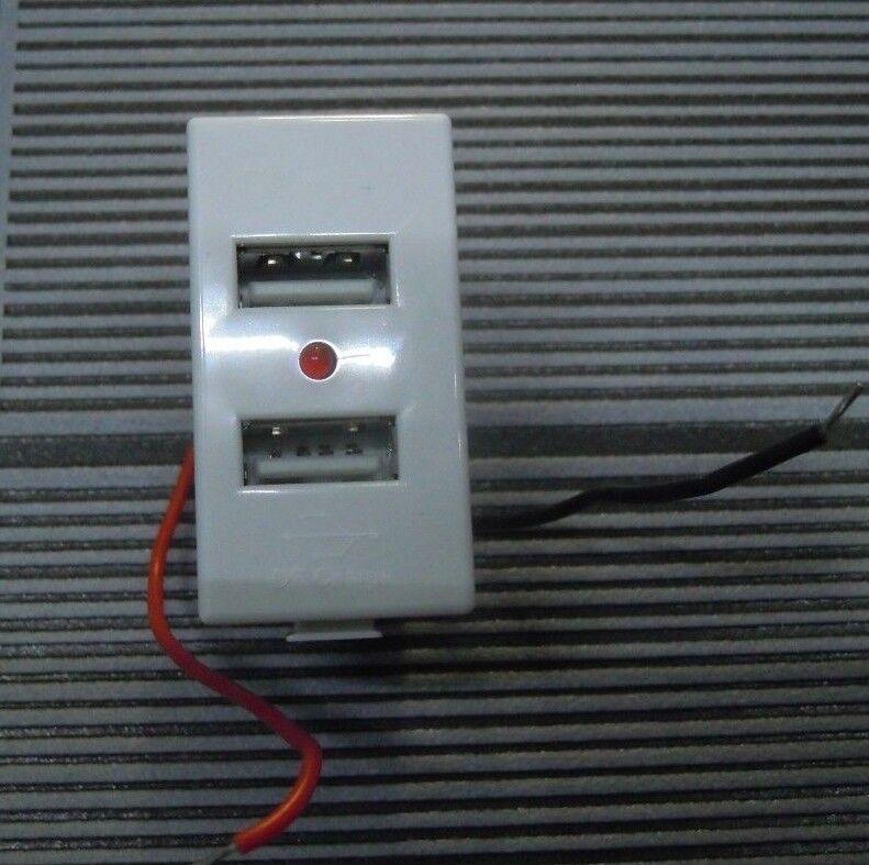 BTICINO MATIX PRESA DOPPIO USB DA 2A COMPATIBILE  AL 100% UGUALE ALL'ORIGINALE