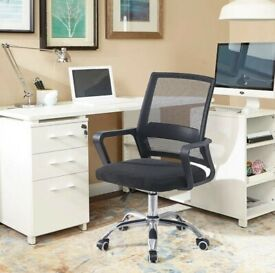 Multiple brand new and boxed professional quality office chairs- (over-ordered for refurb job)