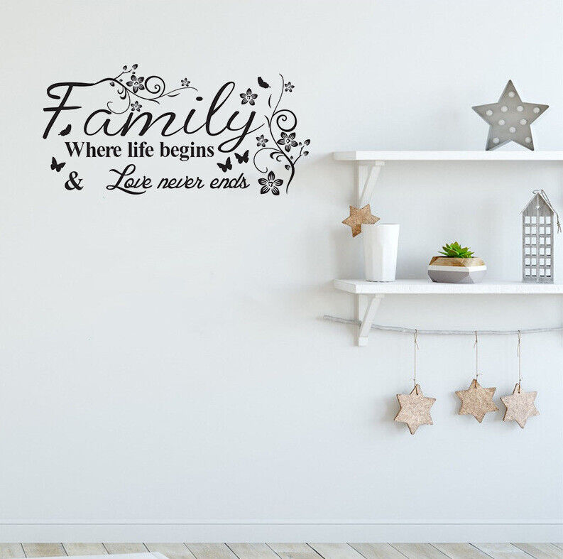 Wall Tattoo-Family-where life began takes.. Sticker Sticker