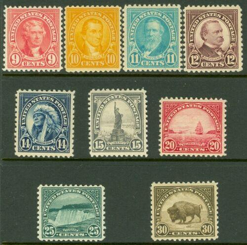 EDW1949SELL USA 1922-25 Scott 561-69 Very Fine-Extra Fine, Mint OG. Cat 113. - $41.99