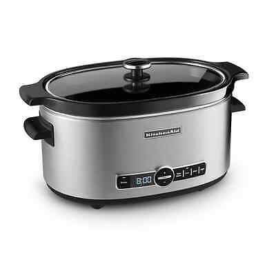 KitchenAid 6 Quart Programmable Home Kitchen Crock Pot Crocks Slow Cooker Cook