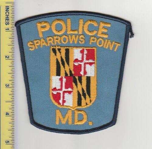US Police Patch Sparrows Point Maryland Police Department