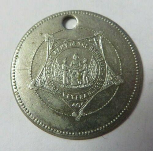 Vintage GRAND ARMY OF THE REPUBLIC Identification Key Fob Tag VETERAN 1861-1866