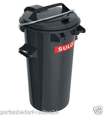50 L SULO Mülltonne Abfallbehälter Mülltrennung Abfalleimer Restmüll + Bügel.