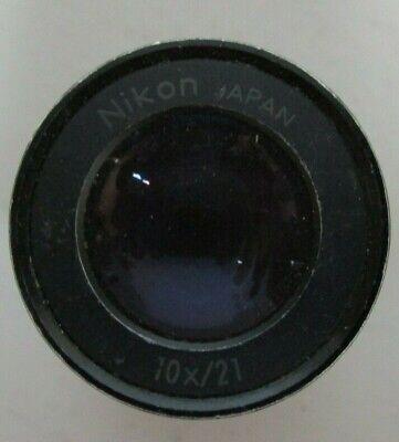 Nikon 10x21 Microscope Eyepiece 1 Pair