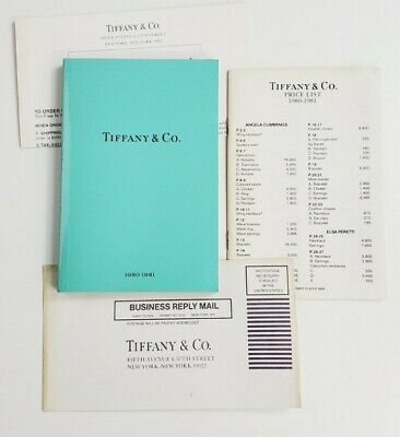 1980-1981 Vintage Tiffany & Co. Catalog Blue Book Jewelry & Price List
