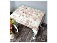 Laura ashley fabric button topped stool