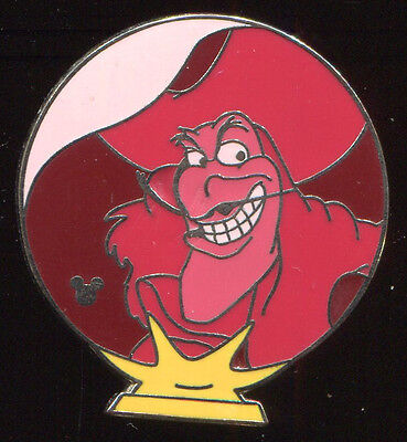 - WDW Hidden Mickey 2007 2 Crystal Ball Villains Captain Hook Disney Pin 57990