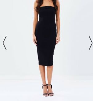 Black fitted bodycon dress size 8