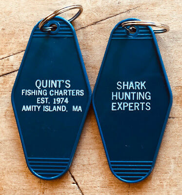 JAWS inspired Quint's Fishing Charters - Fish Keychain