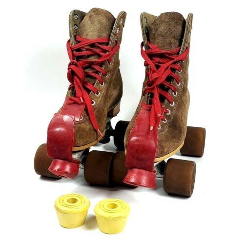Vintage Chicago Brown Roller Skates Mens Size 5