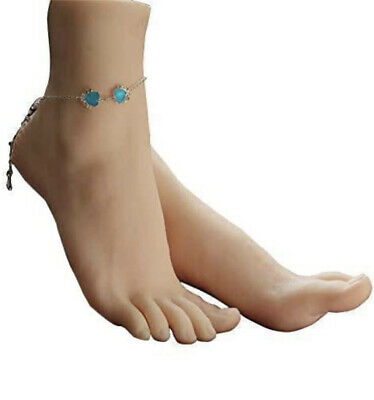 1 Pair Silicone Lifesize Female Mannequin Foot Display Jewerly Sandal Shoe So...