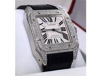 Cartier Santos 100 Diamond Set Automatic