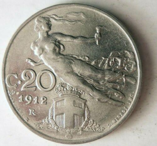 1912 ITALY 20 CENTESIMI - Flying Liberty - FREE SHIPPING - Italy Bin #B