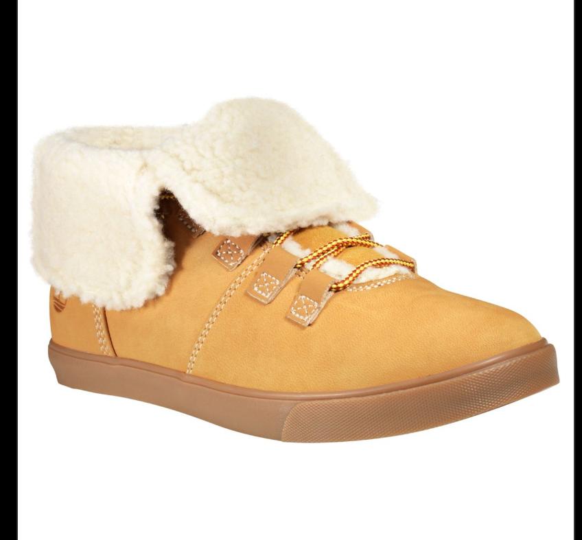 Women's Timberland Dausette Fleece Fold-Down Boots - Wheat Nubuck