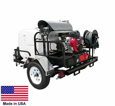 Pressure Washer Hot Water - Trailer Mount - 200 Gal - 5 Gpm - 4000 Psi - 12v A