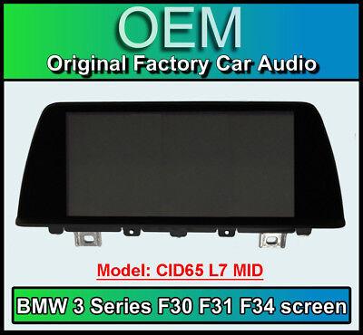 BMW 3 Series display screen, BMW F30 F31, CID65 L7 MID, LCI Multi function