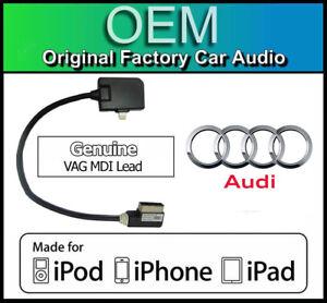 Audi iPhone 7 lead, Genuine Audi TT AMI Lightning cable for Apple iPod iPad