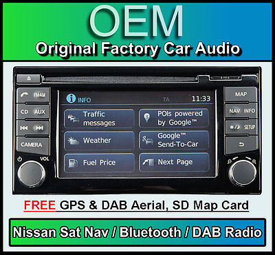 Nissan Micra Navigationssystem Stereo, DAB+ Radio, LCN2 Connect CD-Player