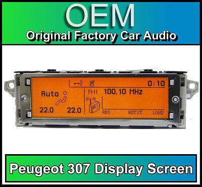 Peugeot 307 display screen, RD4 radio LCD Multi function clock dash BRAND NEW