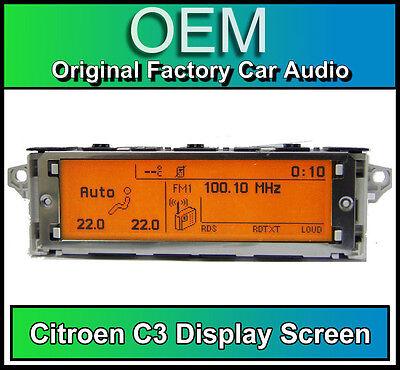 Citroen C3 display screen, RD4 radio LCD Multi function clock dash BRAND NEW