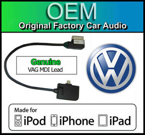 VW MDI iPod iPhone iPad lead cable, VW Golf MK7 media in lightning adapter