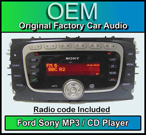 FORD-FOCUS-CD-MP3-Player-Sony-Radio-De-Coche-Cabeza-Unidad-Con-muneca