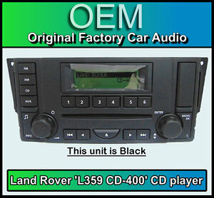 Land Rover Discovery 3 CD player radio, L359 CD-400 car stereo, 1 Year Warranty