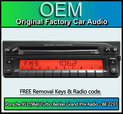 Porsche 911 (964) Turbo Radio Becker Grand Prix BE 2237 CD player stereo code ()