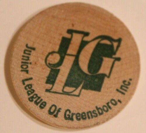 Vintage Junior League Of Greensboro Wooden Nickel