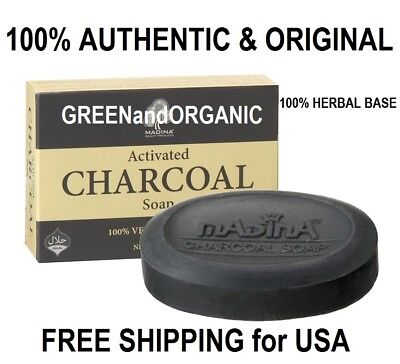 Madina Anti-Aging ACTIVATED CHARCOAL SOAP BAR Acne Pimples Detox Cleanse - Aged Charcoal