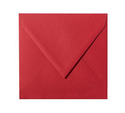25 Quadratische Briefumschläge, 120g in Rosen Rot, #11, 100 x 100 mm, 10 x 10 cm ()