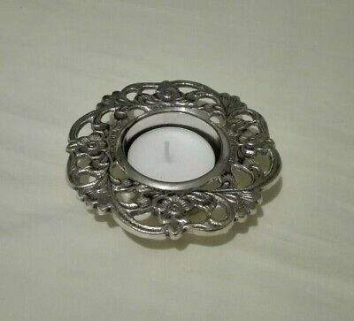EPNS silver plated decorative tealight candle holder (BNWOB)