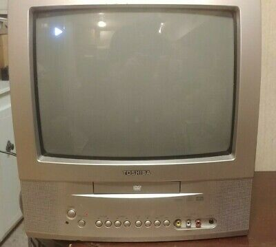 Toshiba MD13Q41 CRT Color TV/DVD Combo Tested Working Retro Gaming Small 13""
