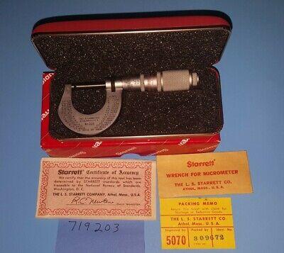 Nice L.s Starrett 221 Hi-precision Red Case 0001micrometer 0-1