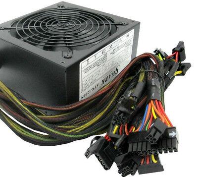 New SHARK 1200W 4X PCIe SLI Gaming PC 8X SATA Black Power Supply ATX/EPS 12V PSU