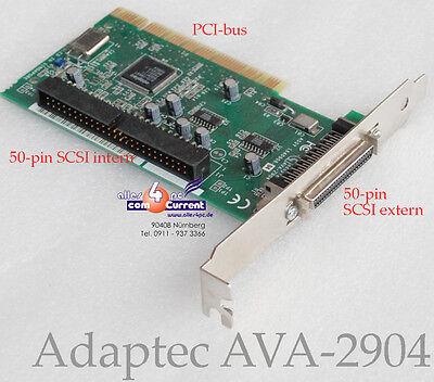 PCI SCSI CONTROLLER ADAPTEC AVA-2904 AIC-7856T AVA2904 1640906 F. SCANNER DAT MM