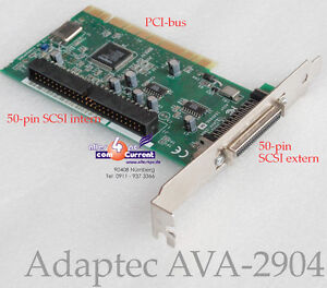 SCSI-CONTROLLER-ADAPTEC-AVA-2904-PCI-AIC-7856T-AVA2904-1640906-DAT-SCAN-JAZZ