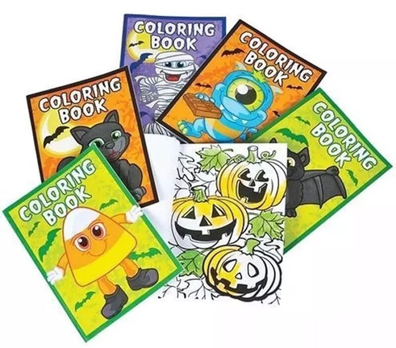 Drawing & Sketch Pads Halloween Coloring Books Pack Of 12